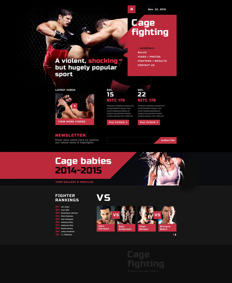 Martial Arts Responsive Website Template New Screenshots BIG