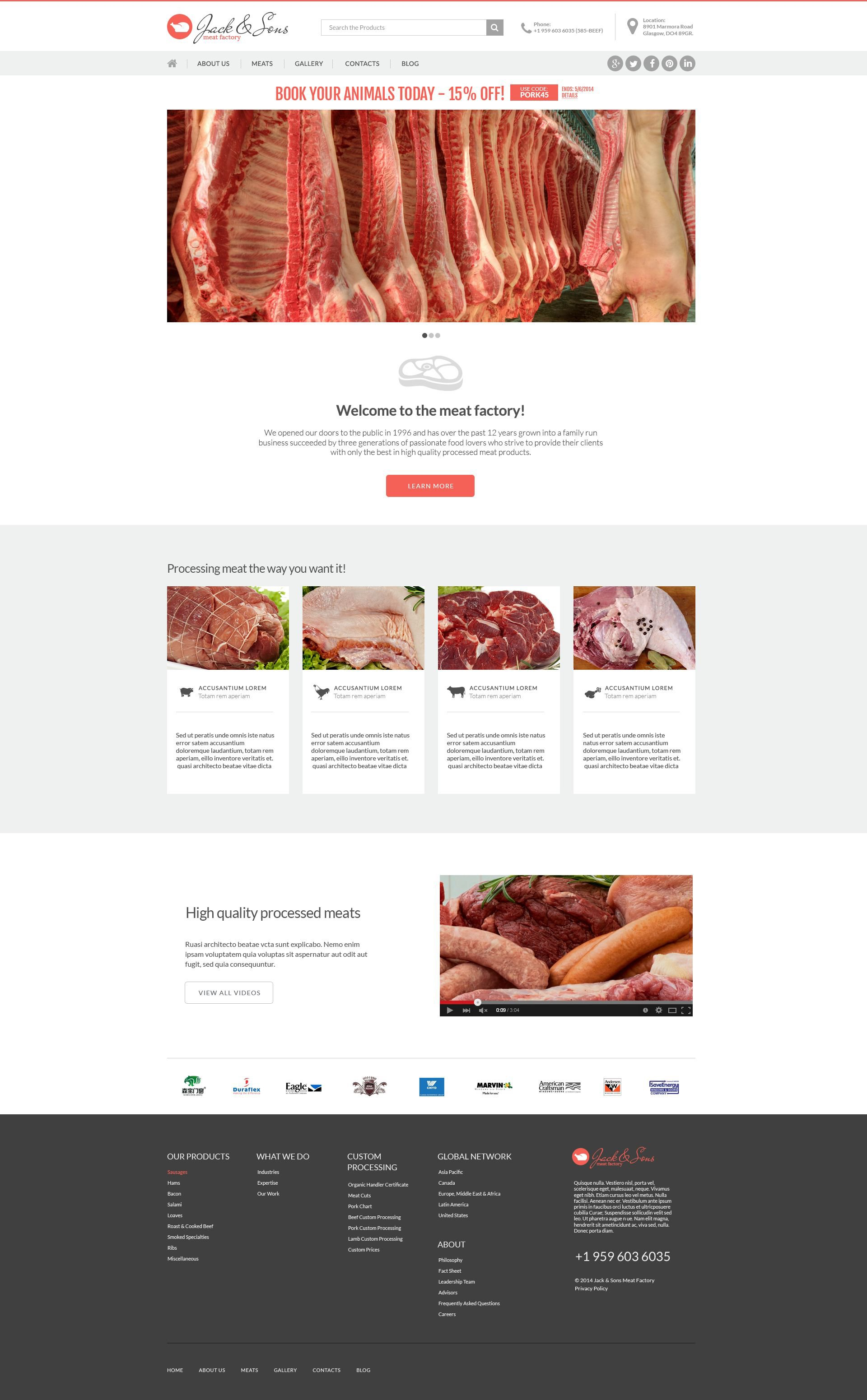 Meat and Steak House Drupal Template