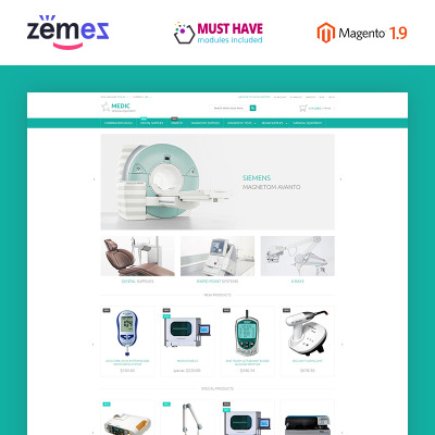 Medical Equipment Responsive Magento Thema