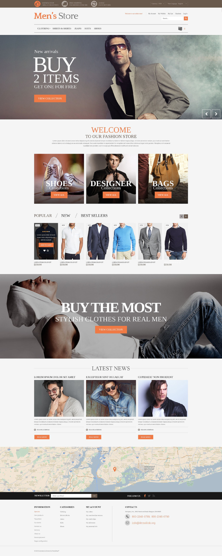 Men's Store PrestaShop Theme New Screenshots BIG