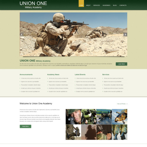 Union One - WordPress Template based on Bootstrap