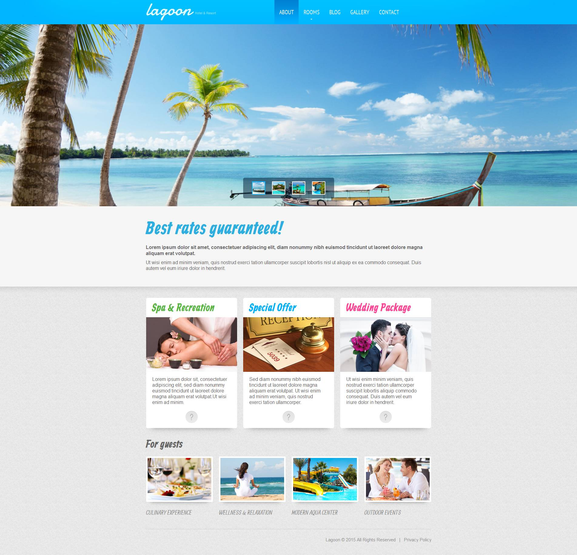Modèle Moto CMS HTML Premium pour site d'hôtel #53525