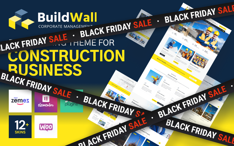 "Modello WordPress Responsive #53591 ""BuildWall - Construction Company Multipurpose"""