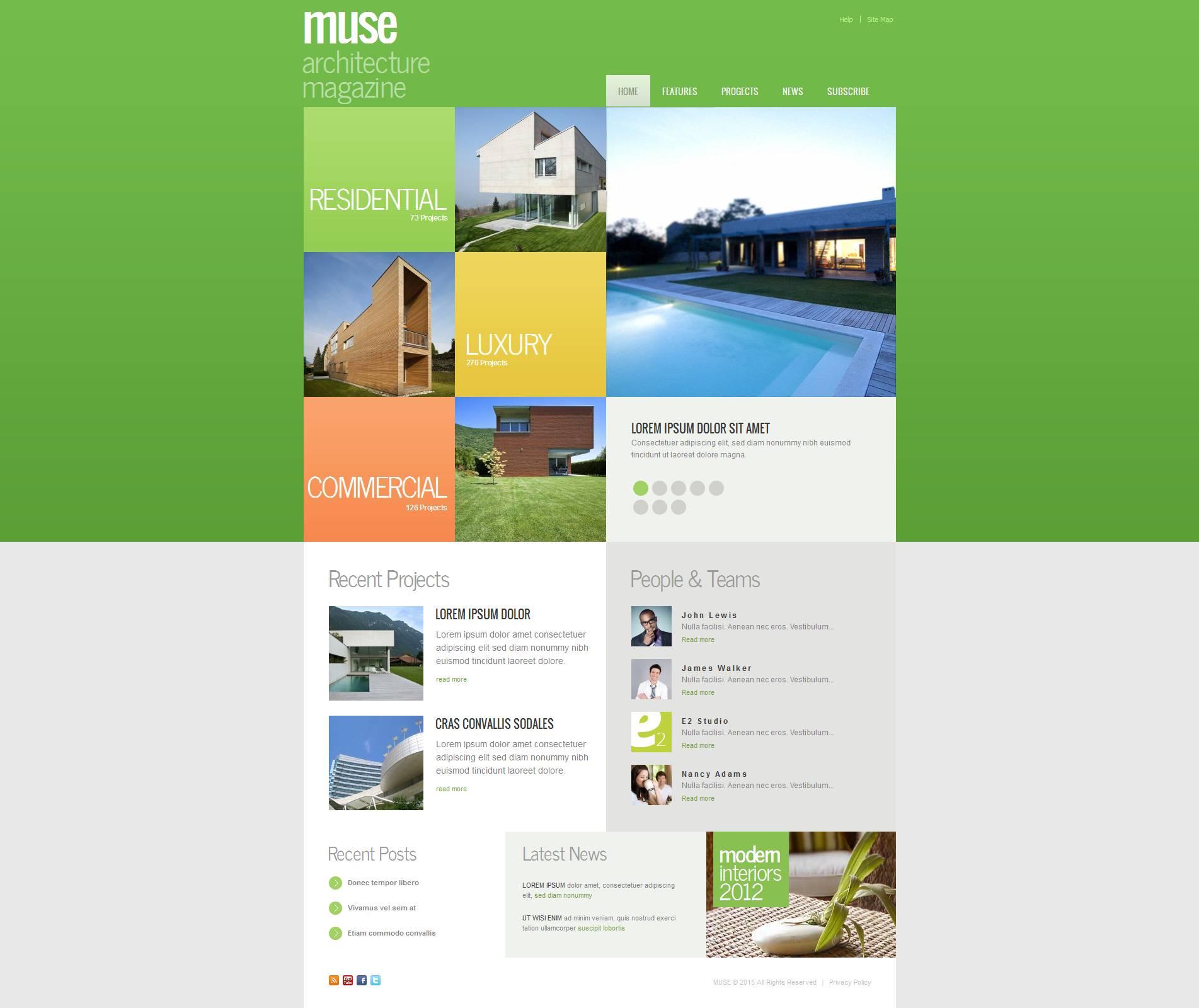 Moto CMS HTML Vorlage für Architektur #53524