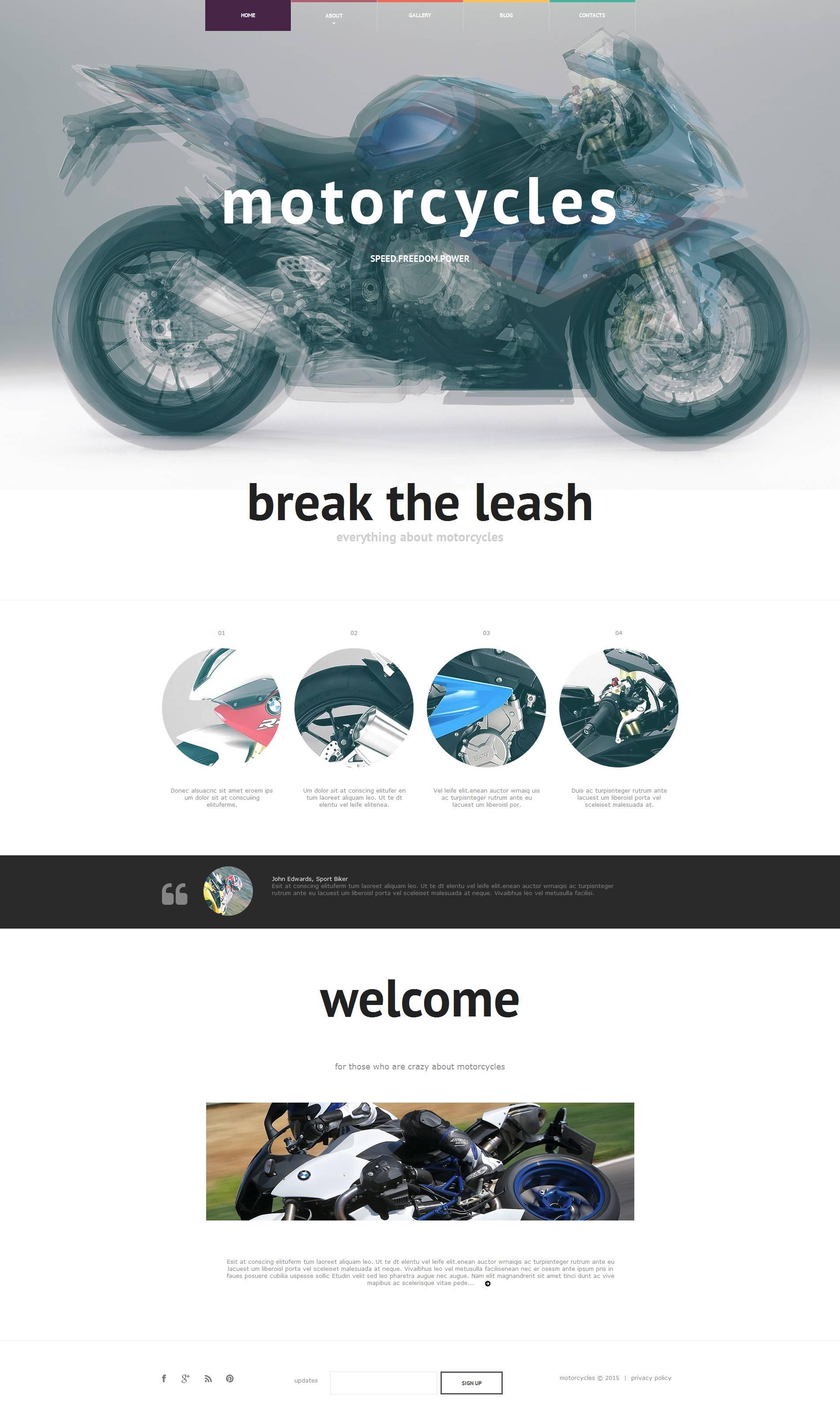 Moto CMS HTML Vorlage für  Fahrrad Shop #53513