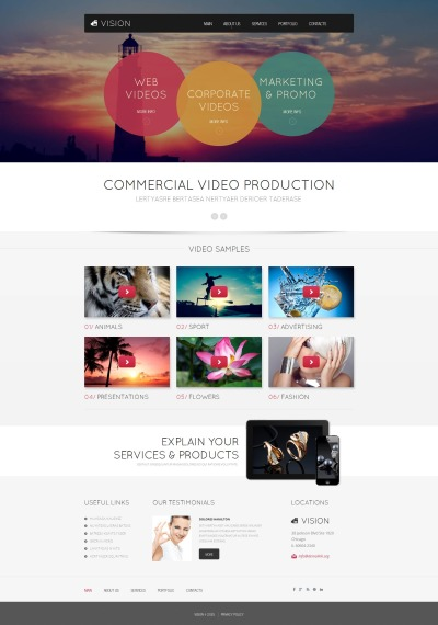 Video Lab MotoCMS HTML шаблон