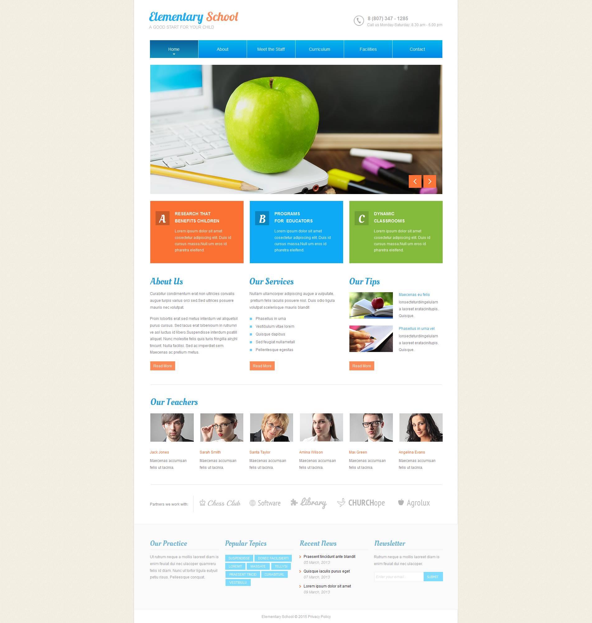 MotoCMS HTML шаблон №53510 на тему начальная школа