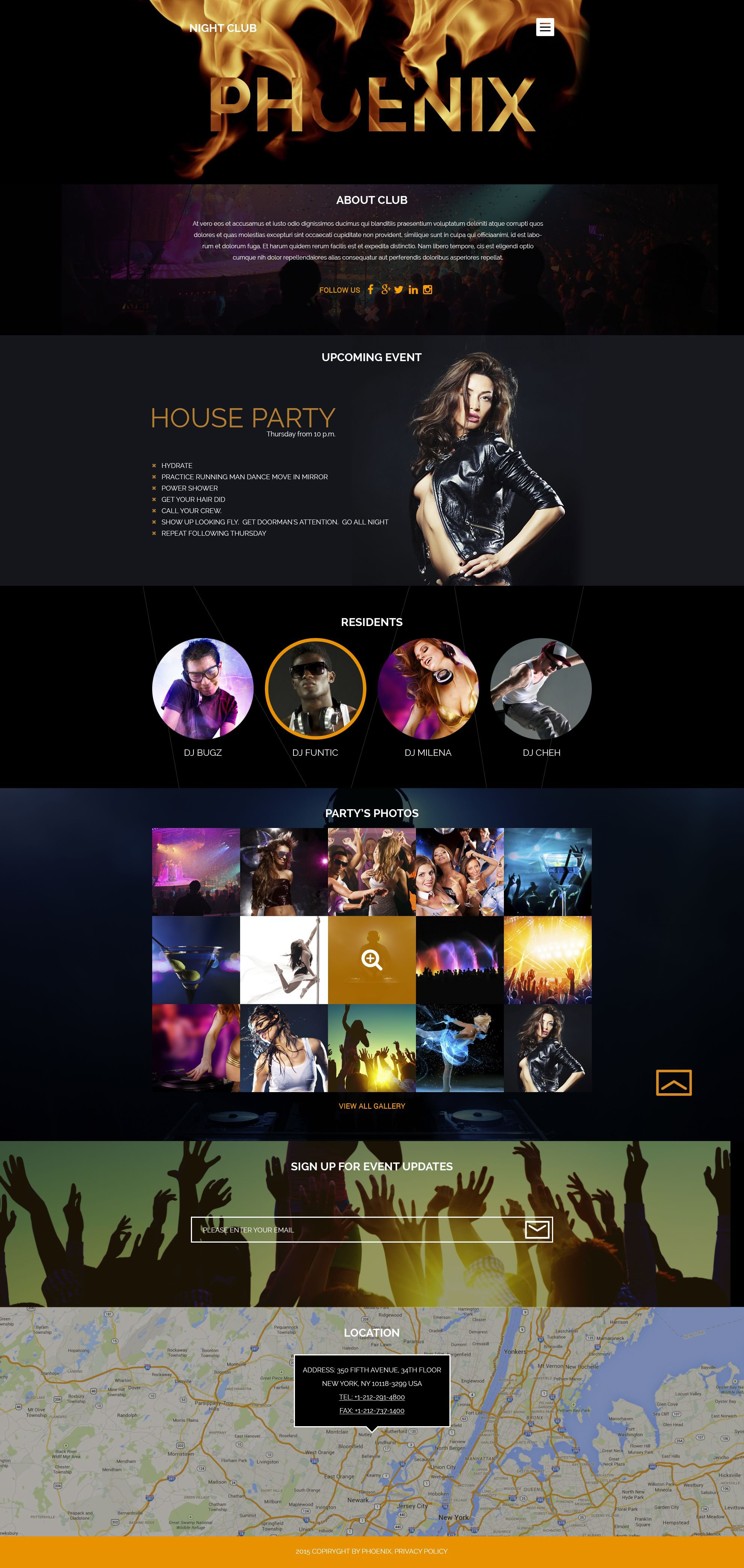 Night Club WordPress Theme - screenshot