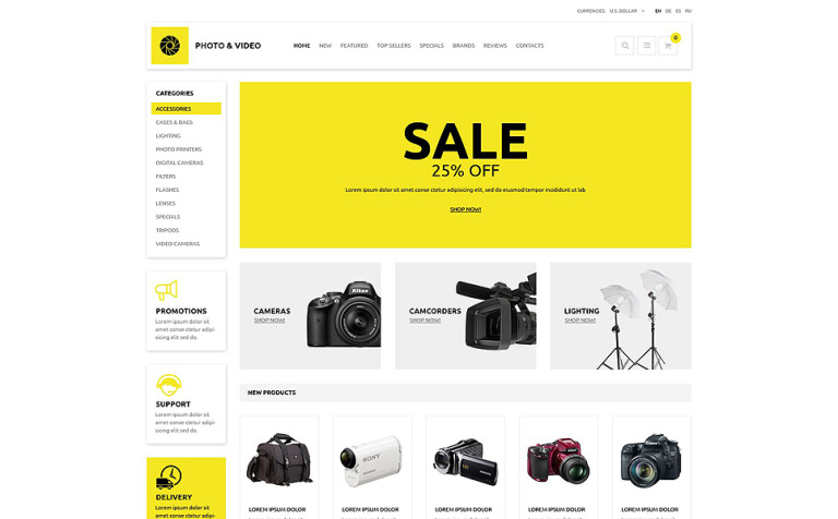 Photo and Video Store OsCommerce Template