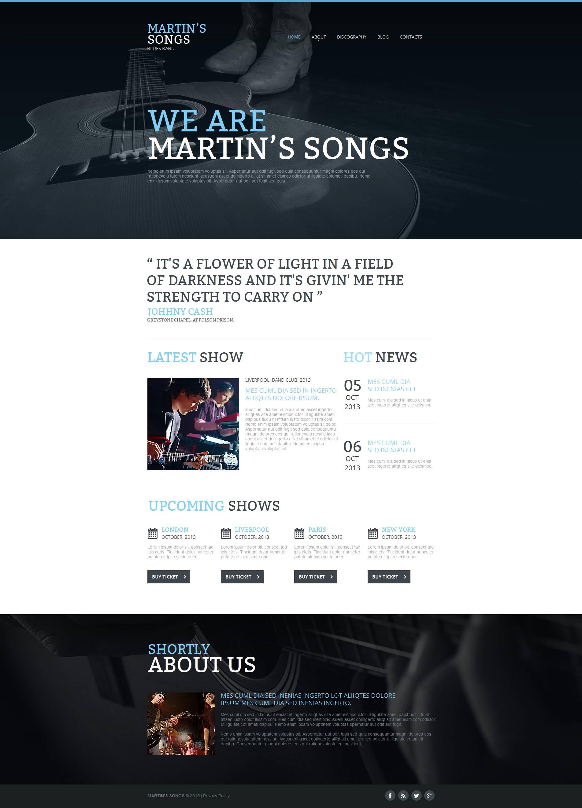 Plantilla Moto CMS HTML #53511 para Sitio de Grupos musicales