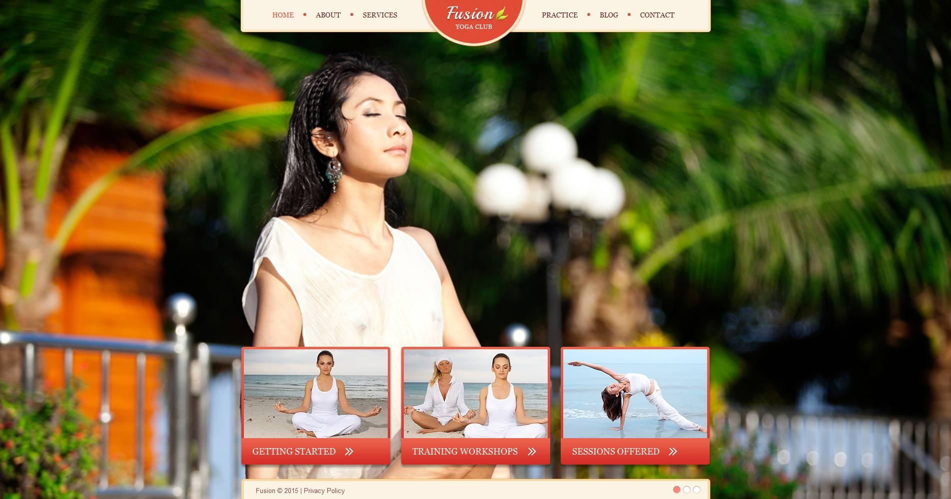 Premium Moto CMS HTML Template over Yoga №53509 - screenshot