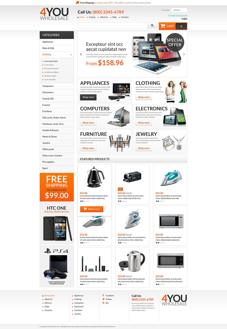 Quick Wholesales Boost VirtueMart Template New Screenshots BIG