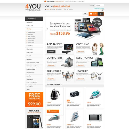 4 You Wholesale - VirtueMart Template based on Bootstrap