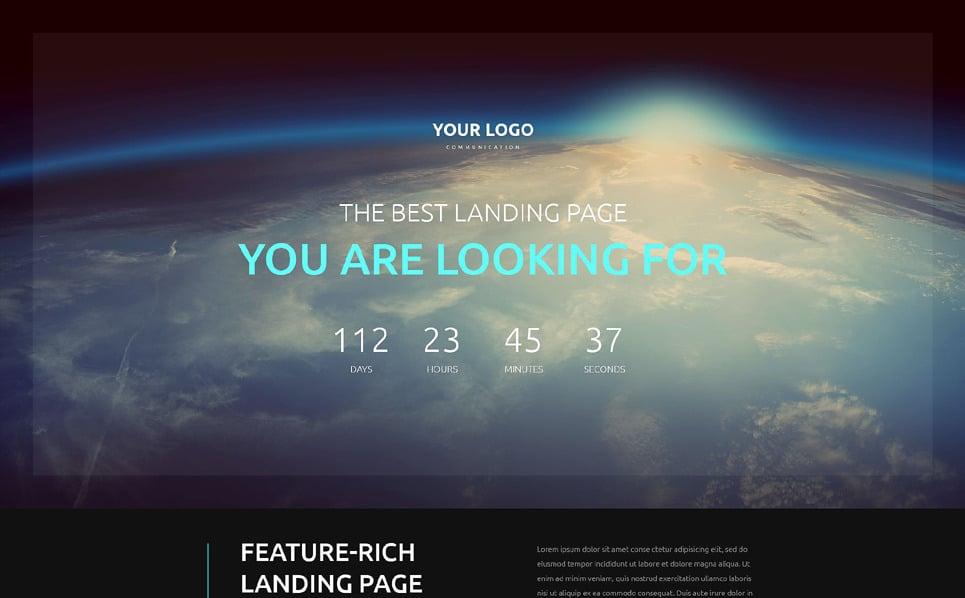 Responsive Landingspagina Template over Communicaties  New Screenshots BIG