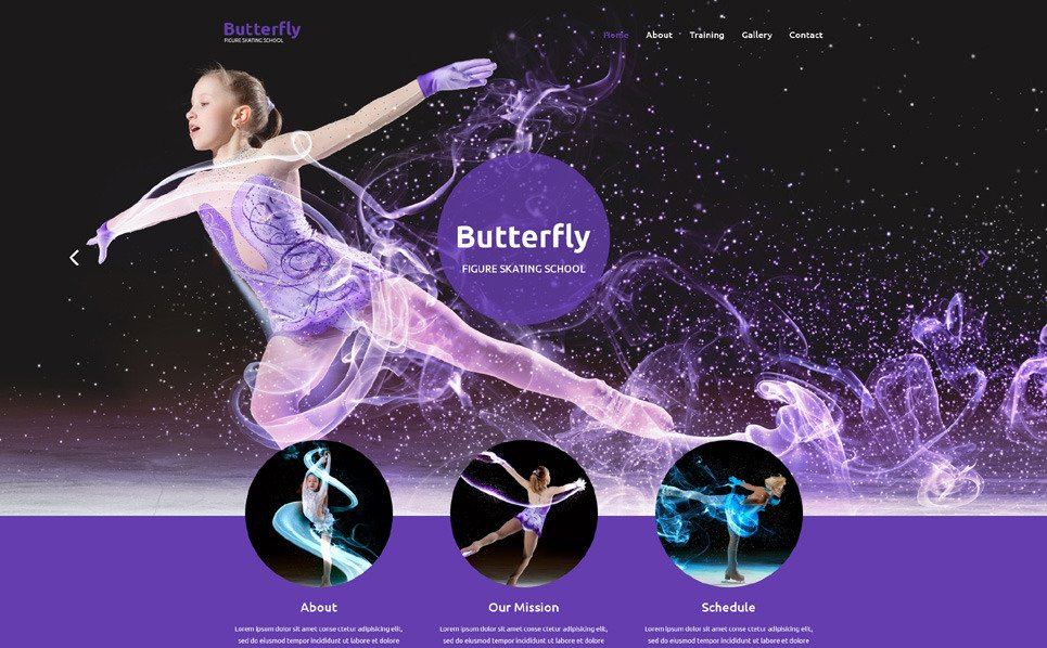 Responsive Website template over Schaatsen New Screenshots BIG
