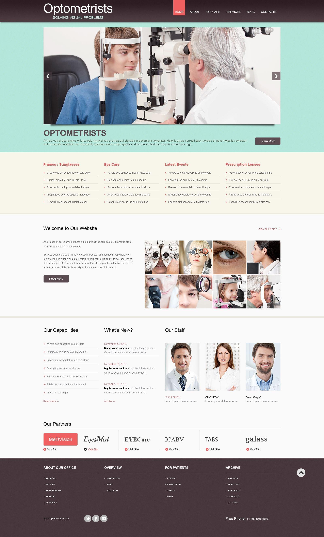 Responsive WordPress thema over Optometrist №53596 - screenshot
