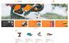 Responsives WooCommerce Theme für Werkzeuge und Geräte  New Screenshots BIG