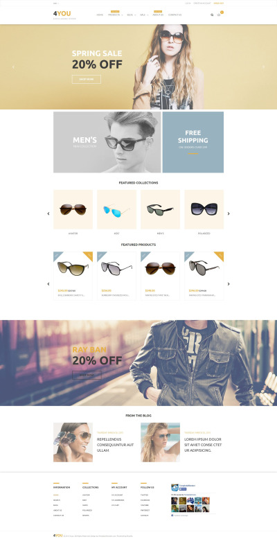Eye Glasses Responsive Shopify Motiv