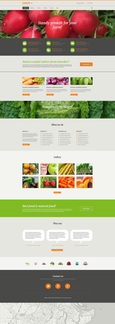 Reszponzív Agriculture Company Drupal sablon #53559
