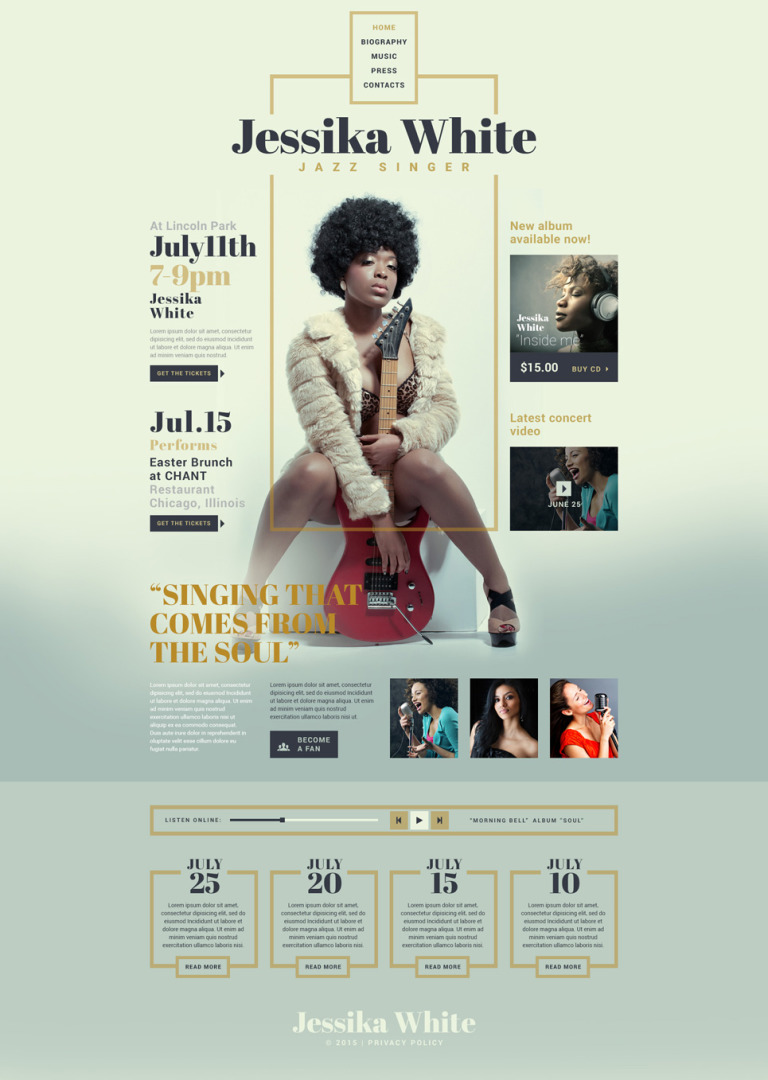 Singer Responsive Website Template New Screenshots BIG