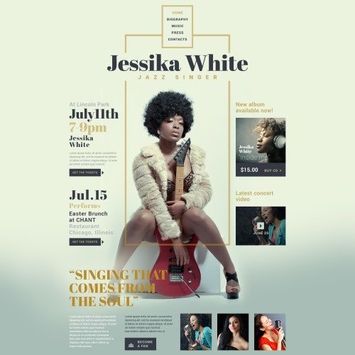 Jessika White - Responsive Website Template