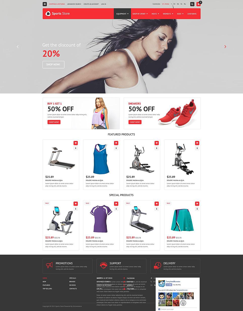 Sport Fitness Store OsCommerce Template New Screenshots BIG