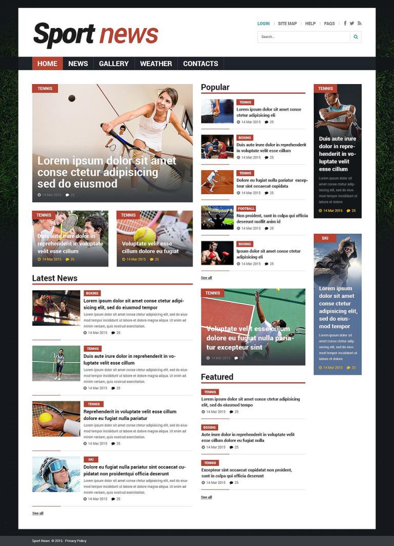 Sports News Responsive Joomla Template New Screenshots BIG