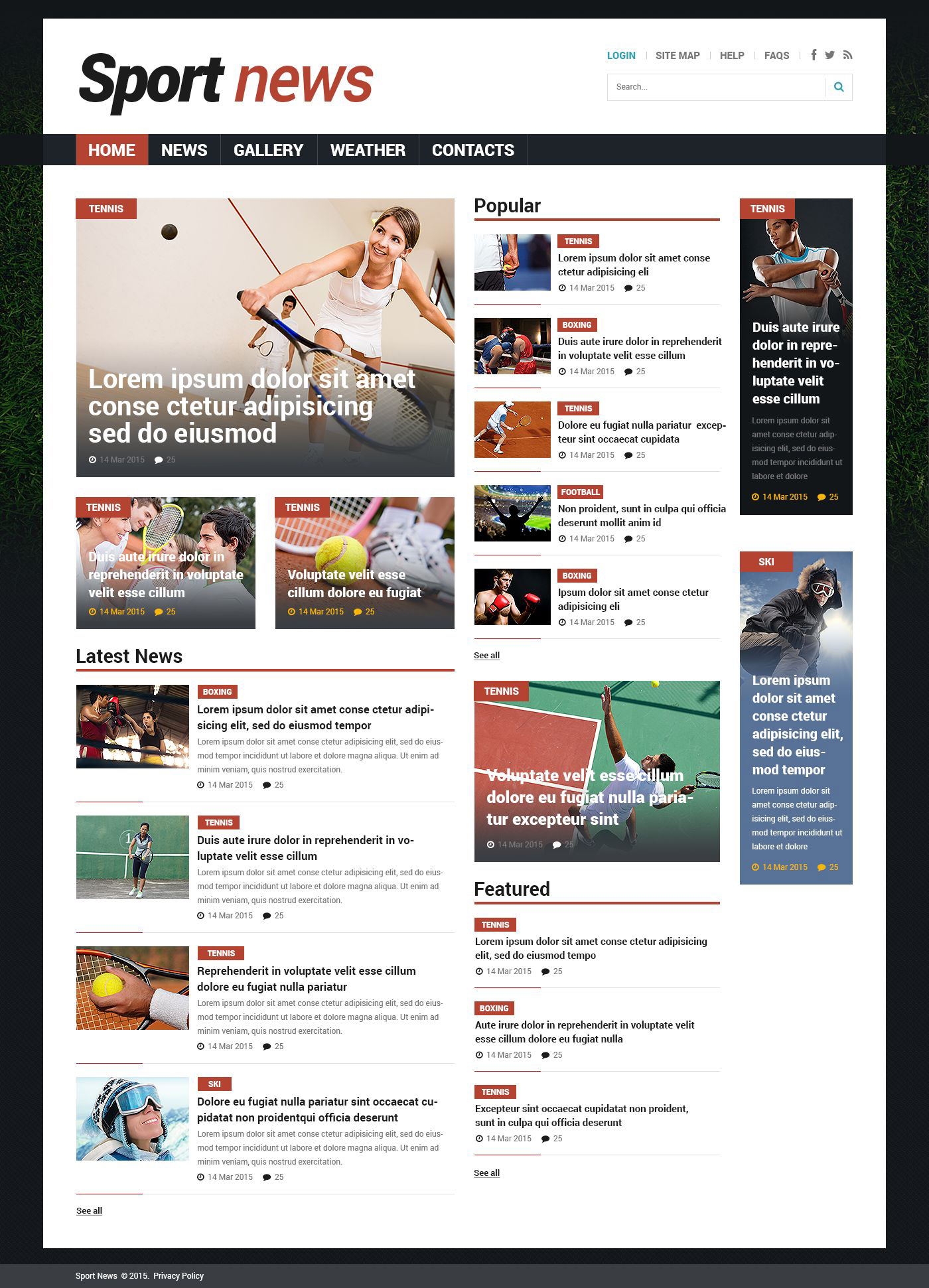 sports news responsive joomla template 53529