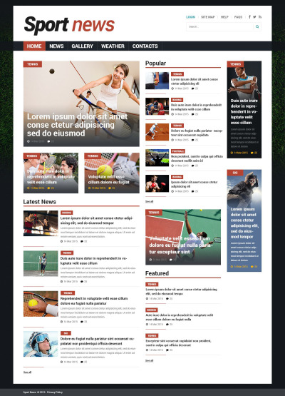 Sports News Responsive Joomla Template #53529