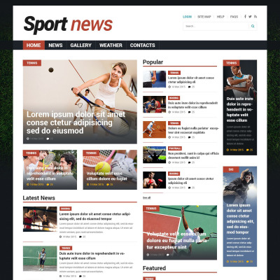 sports news templates templatemonster
