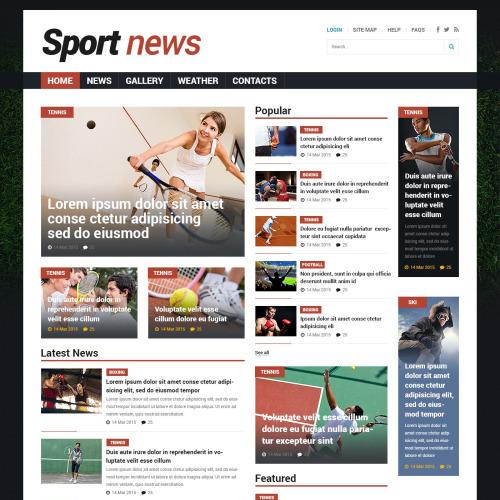 Sports News - Responsive Joomla! Template