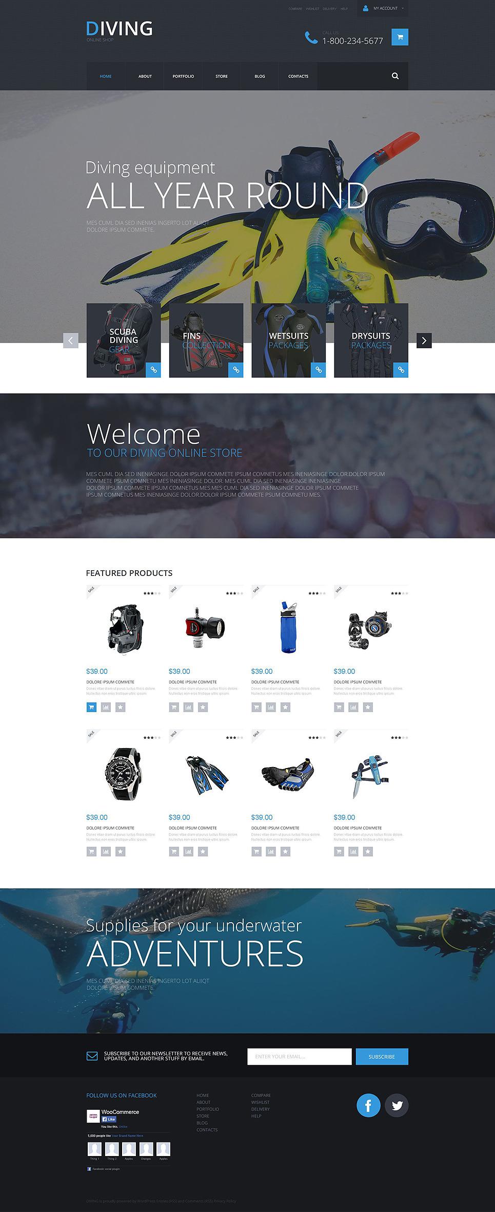 Sports Shop WooCommerce Theme New Screenshots BIG
