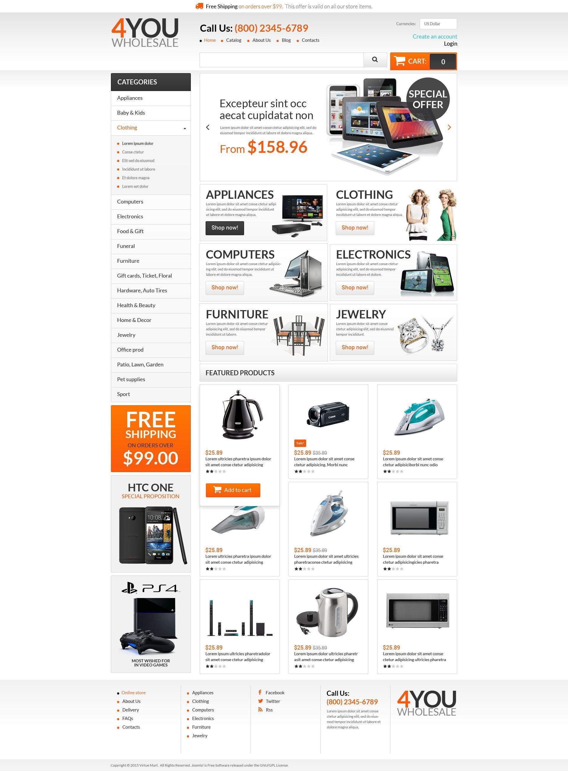 Szablon VirtueMart Quick Wholesales Boost #53547