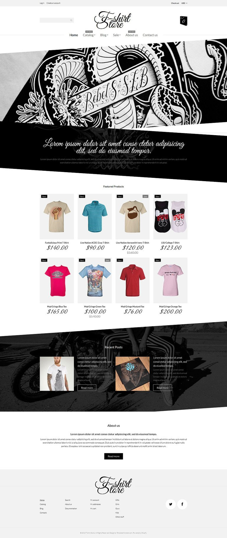 T-Shirt Designs Shopify Theme New Screenshots BIG
