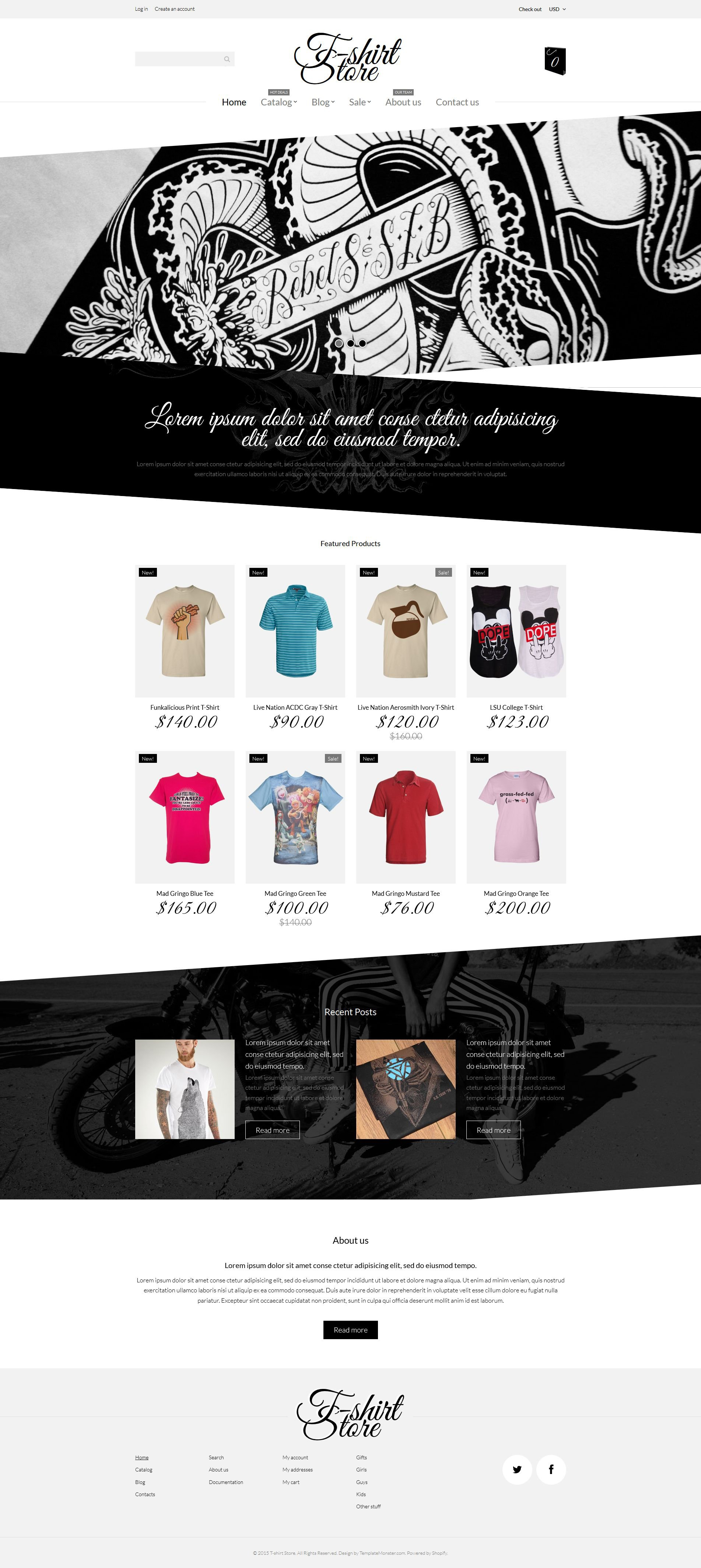 T-Shirt Designs Shopify Theme
