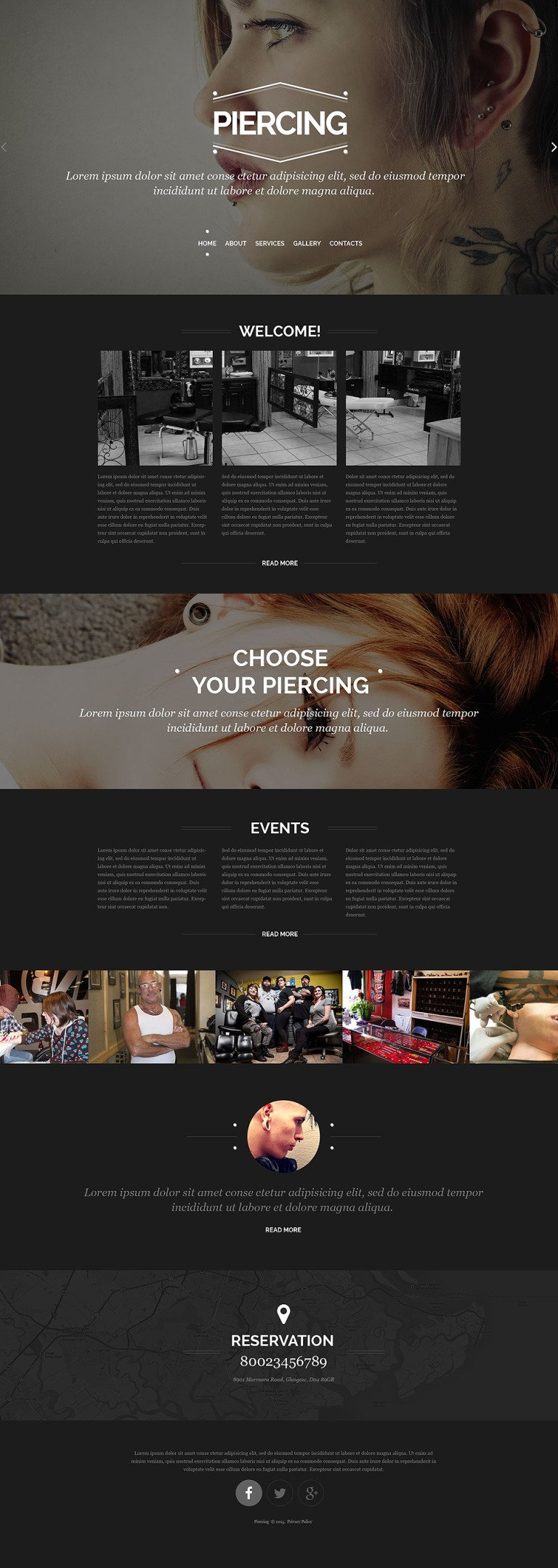 Tattoo Salon Responsive Website Template New Screenshots BIG