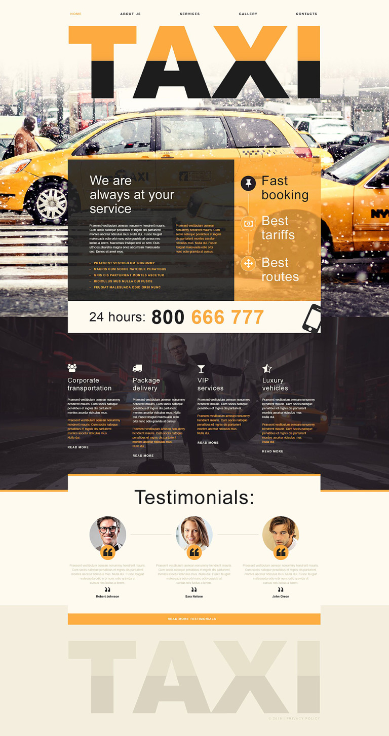 Taxi Muse Template New Screenshots BIG