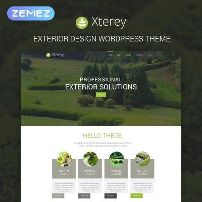 Tema de WordPress #53590 para Sitio de Diseño de exteriores