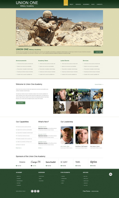 Tema De WordPress Responsive para Sitio de Academias militares #53594