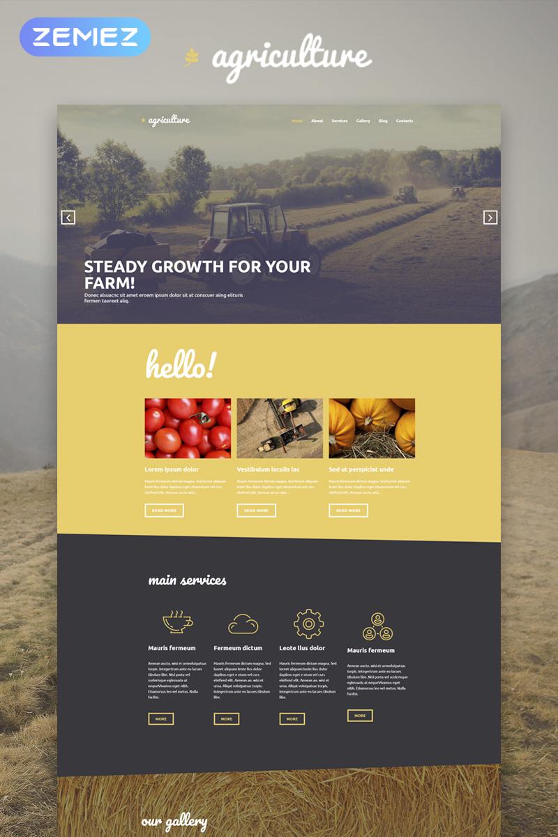 "Tema WordPress Responsive #53592 ""Agriculture - Crop Farming Elementor"""
