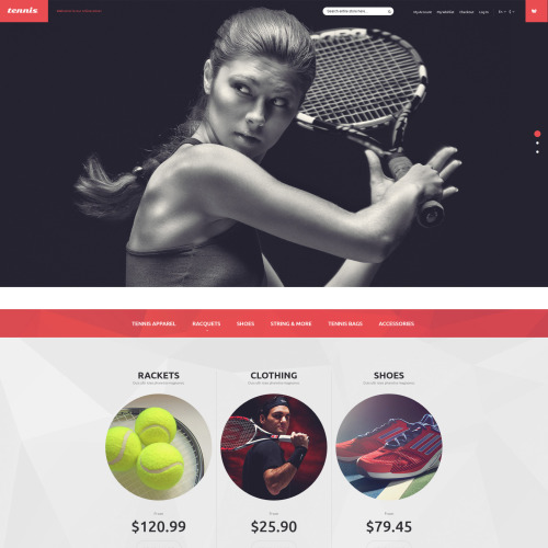 Tennis  - Magento Template based on Bootstrap