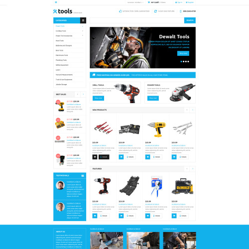 Tools Store - VirtueMart Template based on Bootstrap