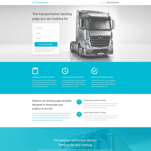 Transportation - Responsive Landing Page Template
