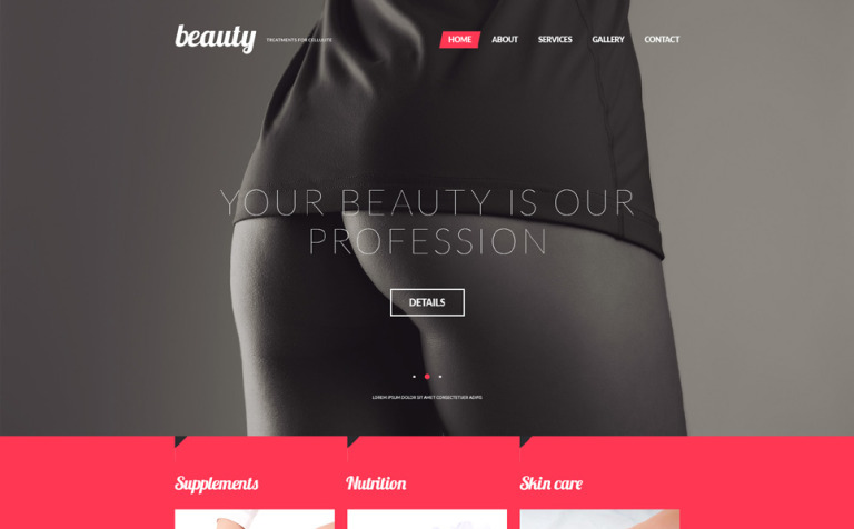Treatments for Celulite Website Template
