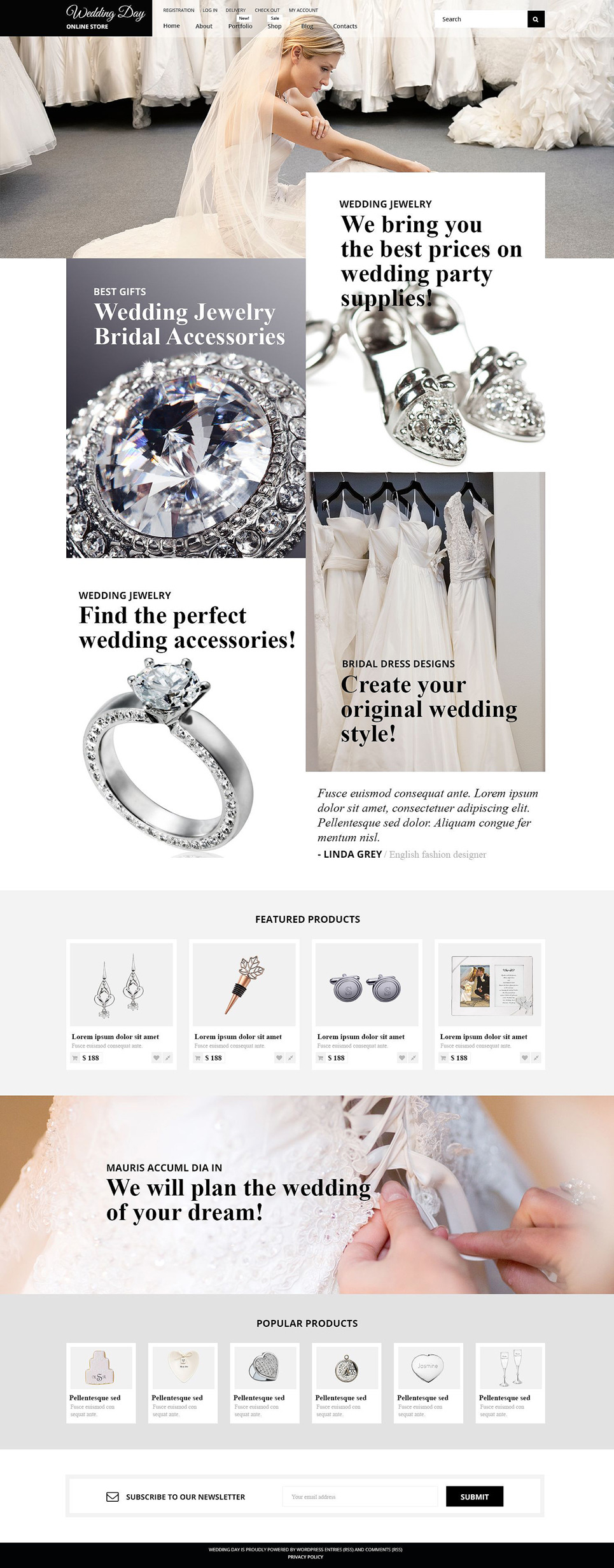 Wedding Stuff WooCommerce Theme New Screenshots BIG