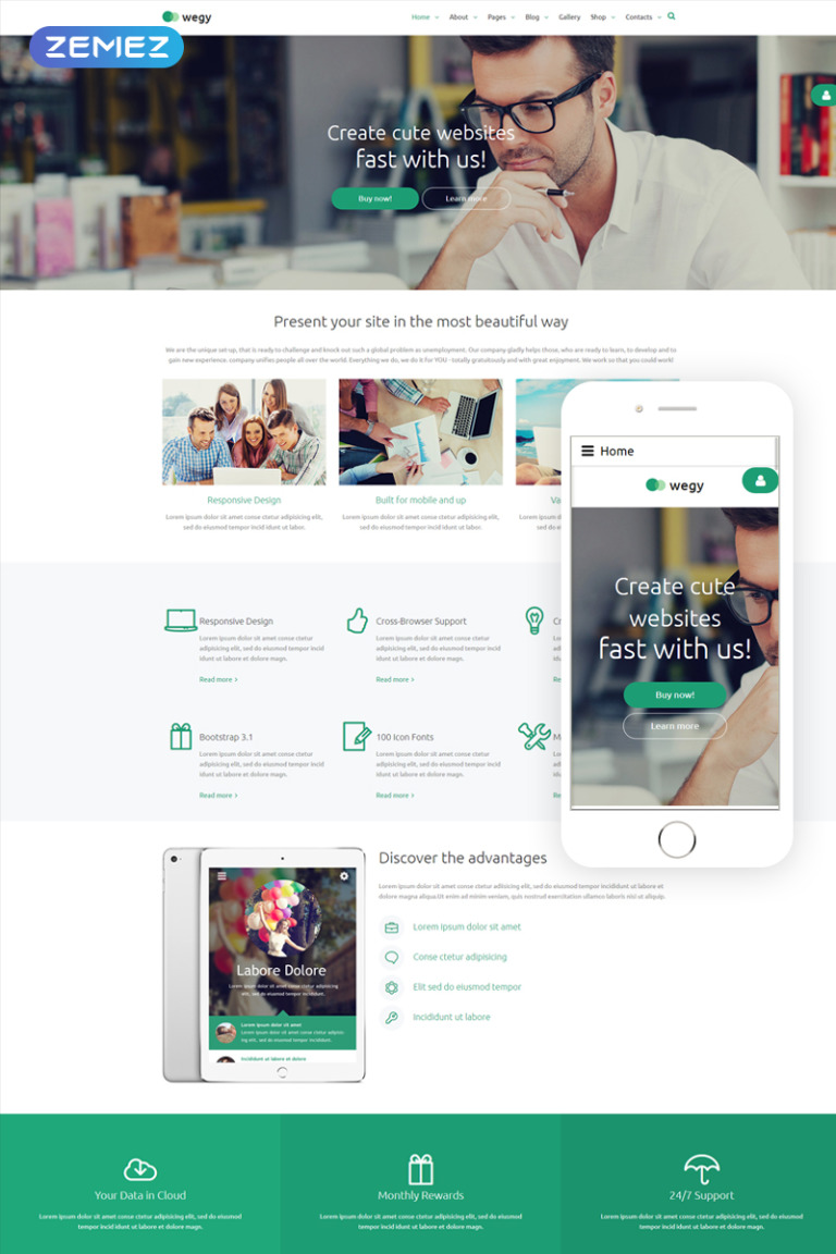 Wegy Joomla Template New Screenshots BIG