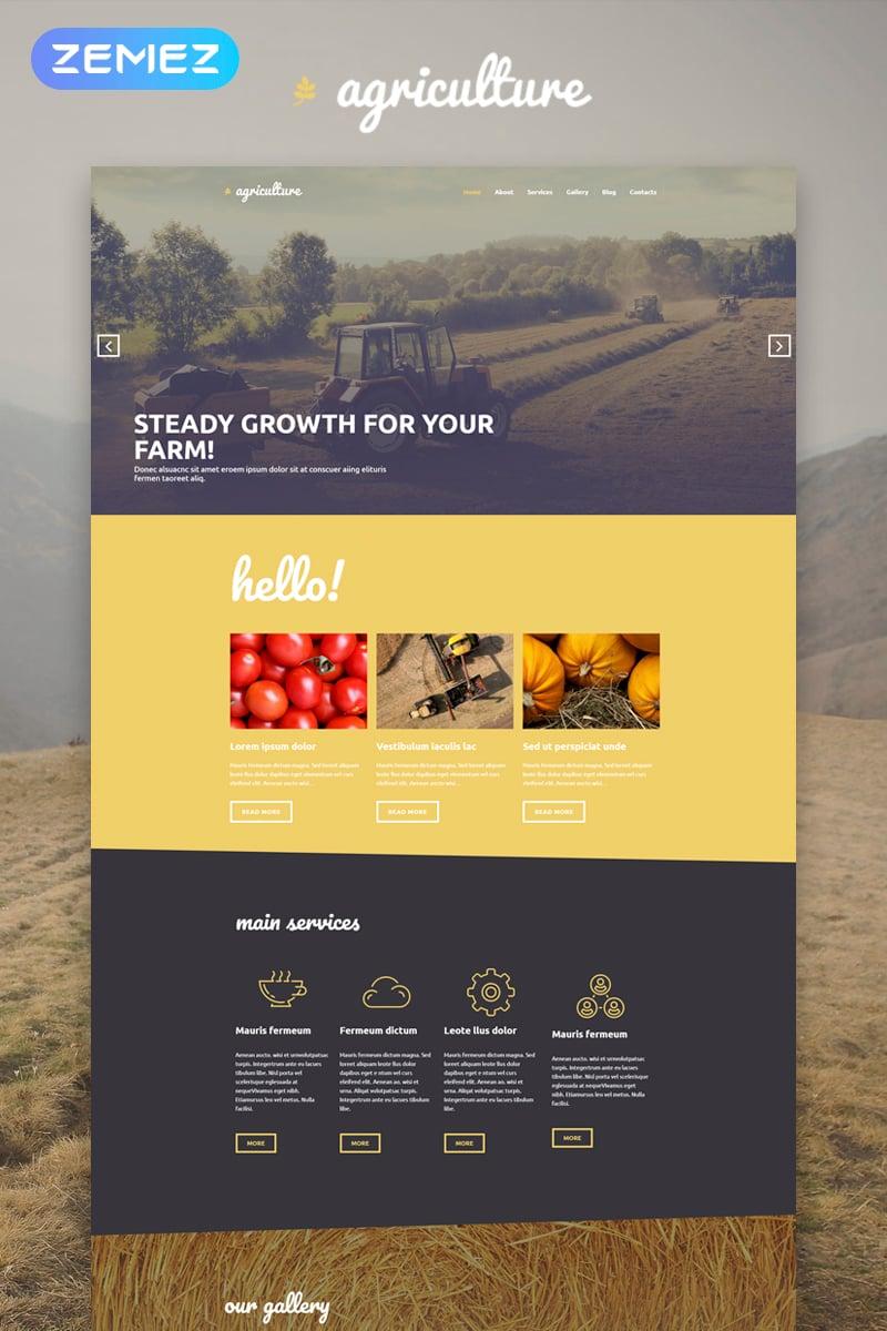 "WordPress Theme namens ""Agriculture - Crop Farming Elementor"" #53592 - Screenshot"
