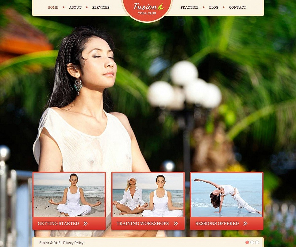 Yoga Moto CMS HTML Template New Screenshots BIG