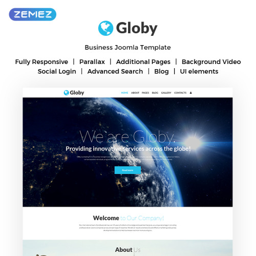 Globy - Joomla! Template based on Bootstrap