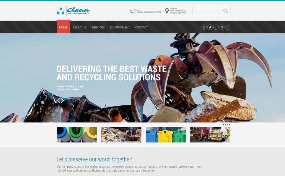 Responsive Website template over Schoonmaakbedrijf  New Screenshots BIG